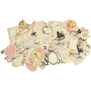 Bundle Of Joy Collectables Cardstock Die-Cuts-Girl - Over 50 Pieces, Assorted Sizes