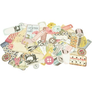 Needle & Thread Collectables Cardstock Die-Cuts-Over 50 Pieces, Assorted Sizes