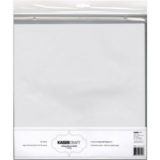 "D-Ring Album Page Protectors 12""X12"" 10/Pkg-Top-Loading With White Inserts"