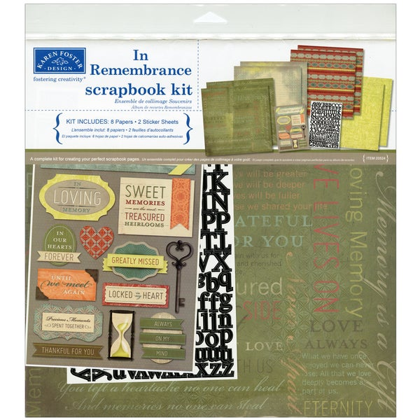 """In Remembrance Scrapbook Page Kit 12""""X12""""-"""