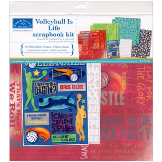 """Volleyball Is Life Scrapbook Page Kit 12""""X12""""-Volleyball"""