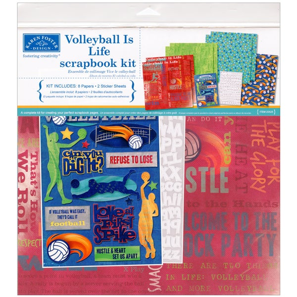 "Volleyball Is Life Scrapbook Page Kit 12""X12""-Volleyball"