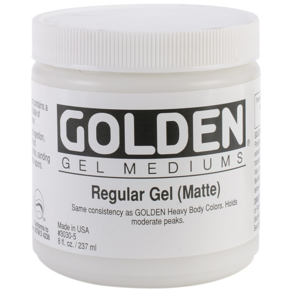Regular Gel Medium 8 Ounces-Matte