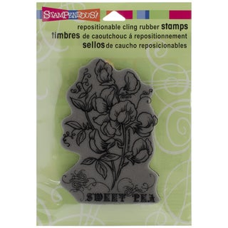 Stampendous Cling Rubber Stamp-Sweet Pea