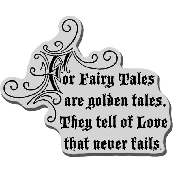Stampendous Cling Rubber Stamp-Golden Tales