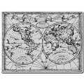 Stampendous Cling Rubber Stamp-Old World Map