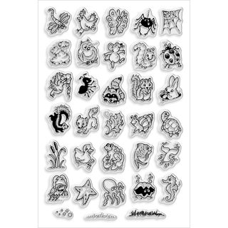 "Stampendous Perfectly Clear Stamps 4""X6"" Sheet-Critter Collection"