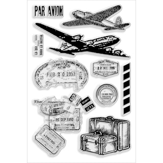 "Stampendous Perfectly Clear Stamps 4""X6"" Sheet-Air Travel"