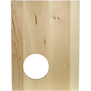 "Thin Panel Basswood 12""X9""X0.38""-Silhouette Circle"