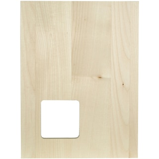 "Thin Panel Basswood 12""X9""X0.38""-Silhouette Square"