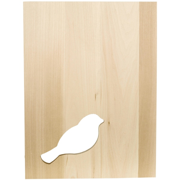 "Thin Panel Basswood 12""X9""X0.38""-Silhouette Bird"