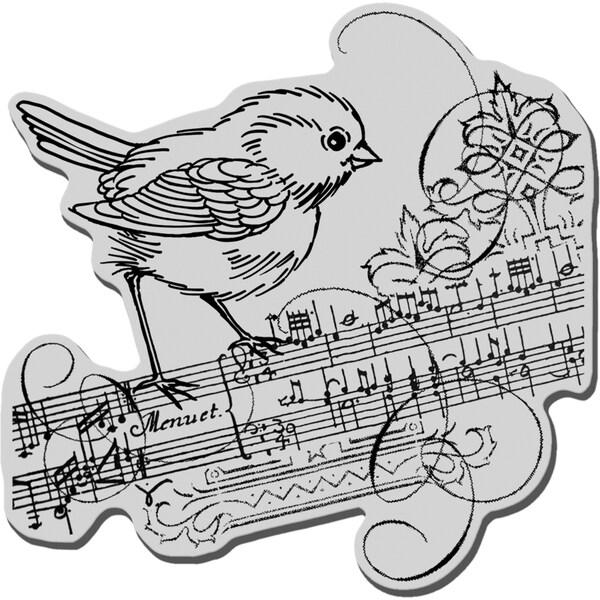 Stampendous Cling Rubber Stamp-Minuet Bird