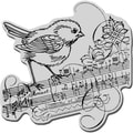 Stampendous Cling Rubber Stamp-Minuet Bird