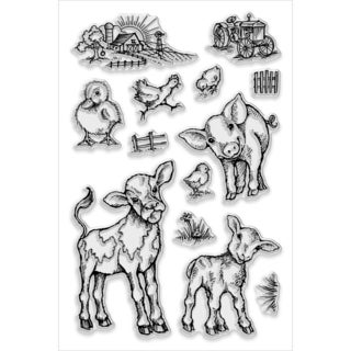 "Stampendous Perfectly Clear Stamps 4""X6"" Sheet-On The Farm"