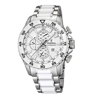 Festina Men's White Ceramic Stainless Steel Watch