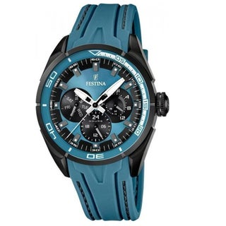 Festina Men's Blue Rubber/ Steel Watch
