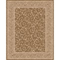 Woven Indoor/ Outdoor Patio Rug Meadow Light Brown/ Beige Rug (7'9 x 10')