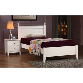 Catalina White Twin Bed