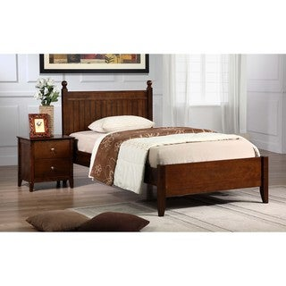 Catalina Walnut Finish Twin Bed
