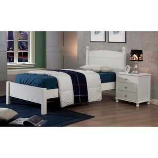 Anderson White Finish Twin Bed