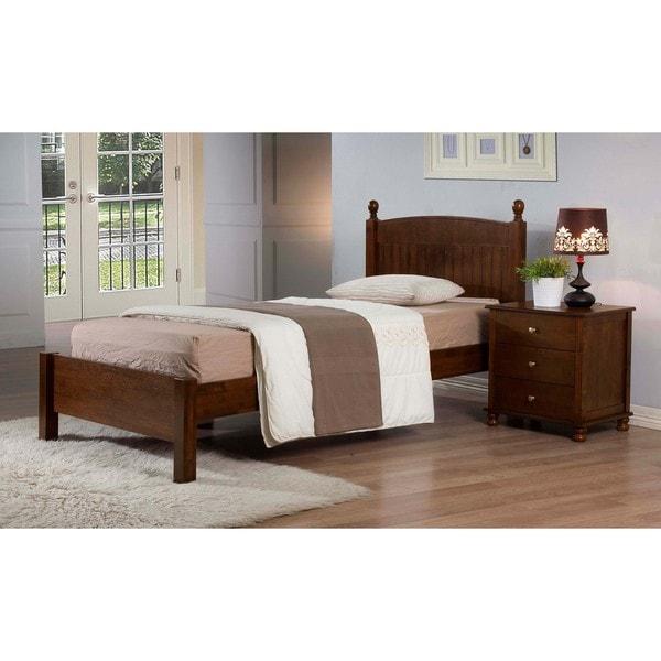 Anderson Walnut Finish Twin Bed
