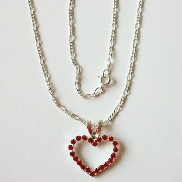 Detti Originals Valentine Red Heart Necklace