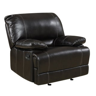 Kevin Cocoa Bonded Leather Reclining Chair