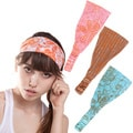 Floral Cotton Headband With Lurex Details (Nepal)