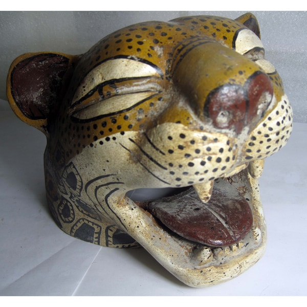 Aztec Ceramic Jaguar Head (Mexico)