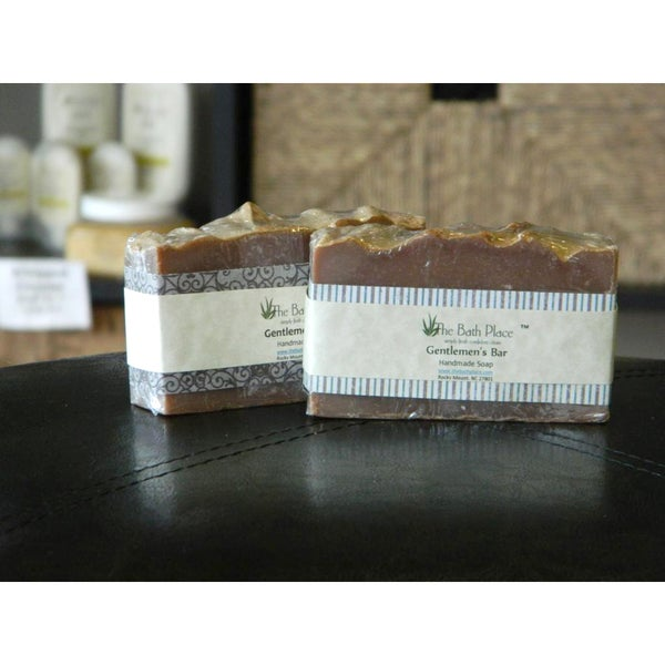 The Bath Place Gentlemen's Bar Handcrafted Soap Duo