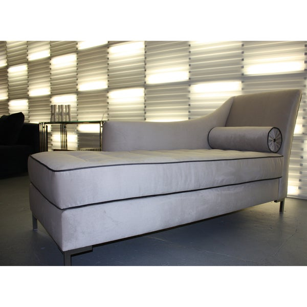 Decenni Custom Furniture 'Tobias' Dove Grey Chaise Lounge
