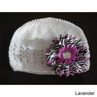 Bobitty Boo Crochet Zoe Hat in Lavander or Blue