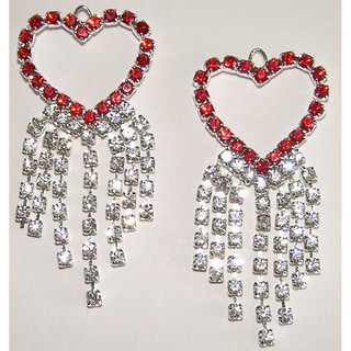 Detti Originals Valentine's Crystal Red Heart Earrings