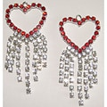 Valentine's Crystal Heart Earrings