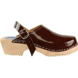 Women's Cape Clogs Brown Patent Brown