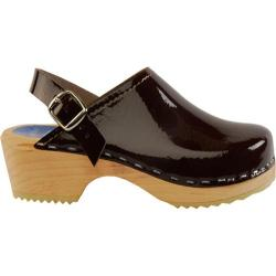 Girls' Cape Clogs Brown Patent Brown