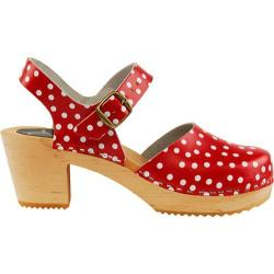 Women's Cape Clogs Pippi Red Closed Toe Red