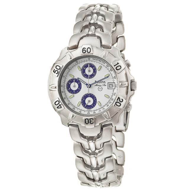 Bulova Men's 'Marine Star' Titanium Chronograph and Tachymeter Quartz Watch