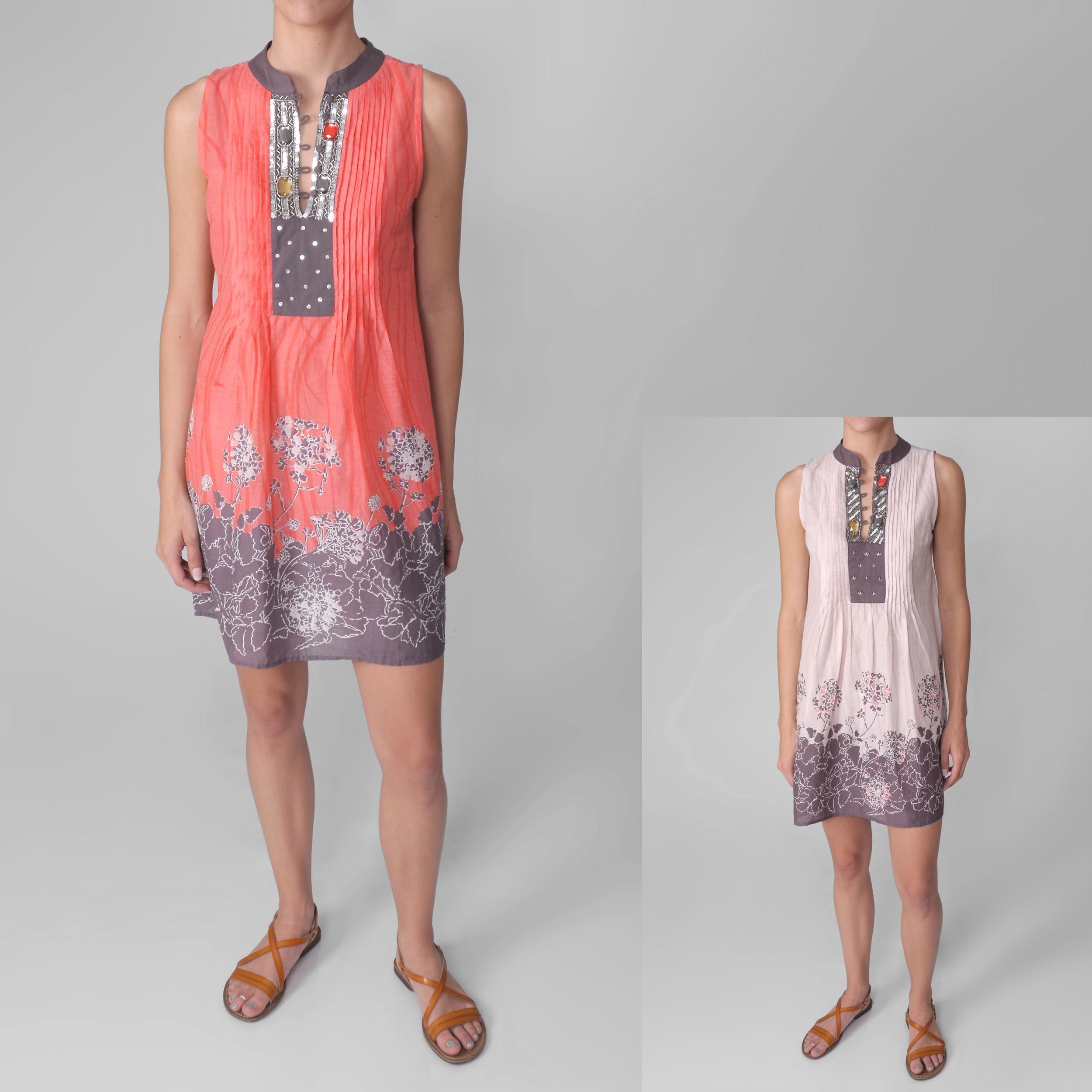 Journee Collection Junior's Jeweled Sleeveless Tunic Dress