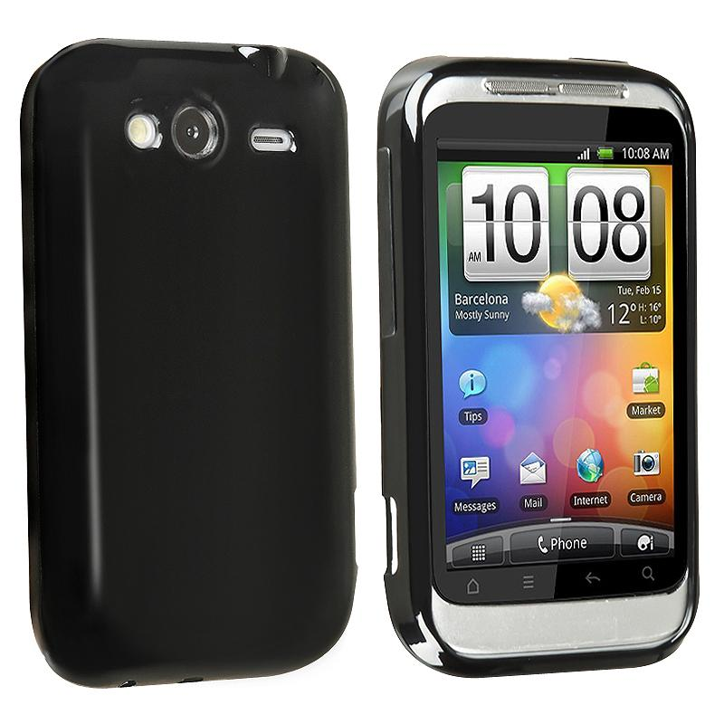 Black TPU Rubber Case for HTC Wildfire S