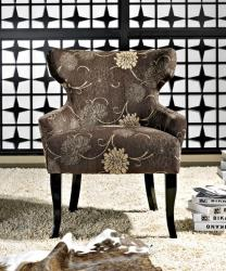 Abbyson Living Bayview Espresso Fabric Lounge Chair