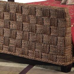 Seagrass Twist Queen-size Sleigh Bed