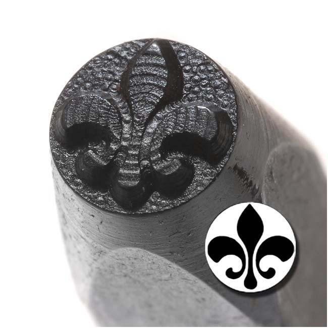 Beadaholique Solid Fleur De Lis 6mm Punch Stamp for Metal
