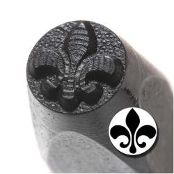 Beadaholique Solid Fleur De Lis 6mm Punch Stamp for Metal