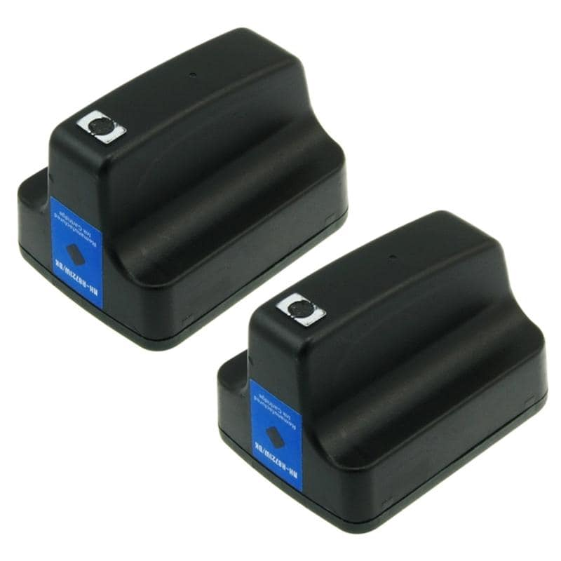 INSTEN HP 02 Black Ink Cartridge (Remanufactured) (Pack of 2)