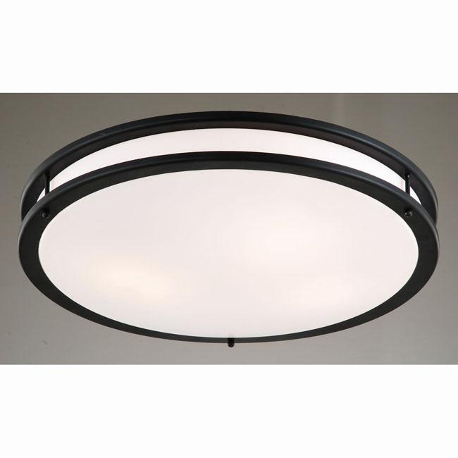 Black and Milky White Modern Flushmount Ceiling Lamp