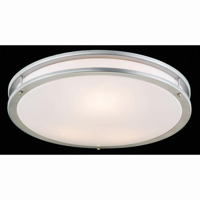 Silver and Milky White Modern Flushmount Ceiling Lamp