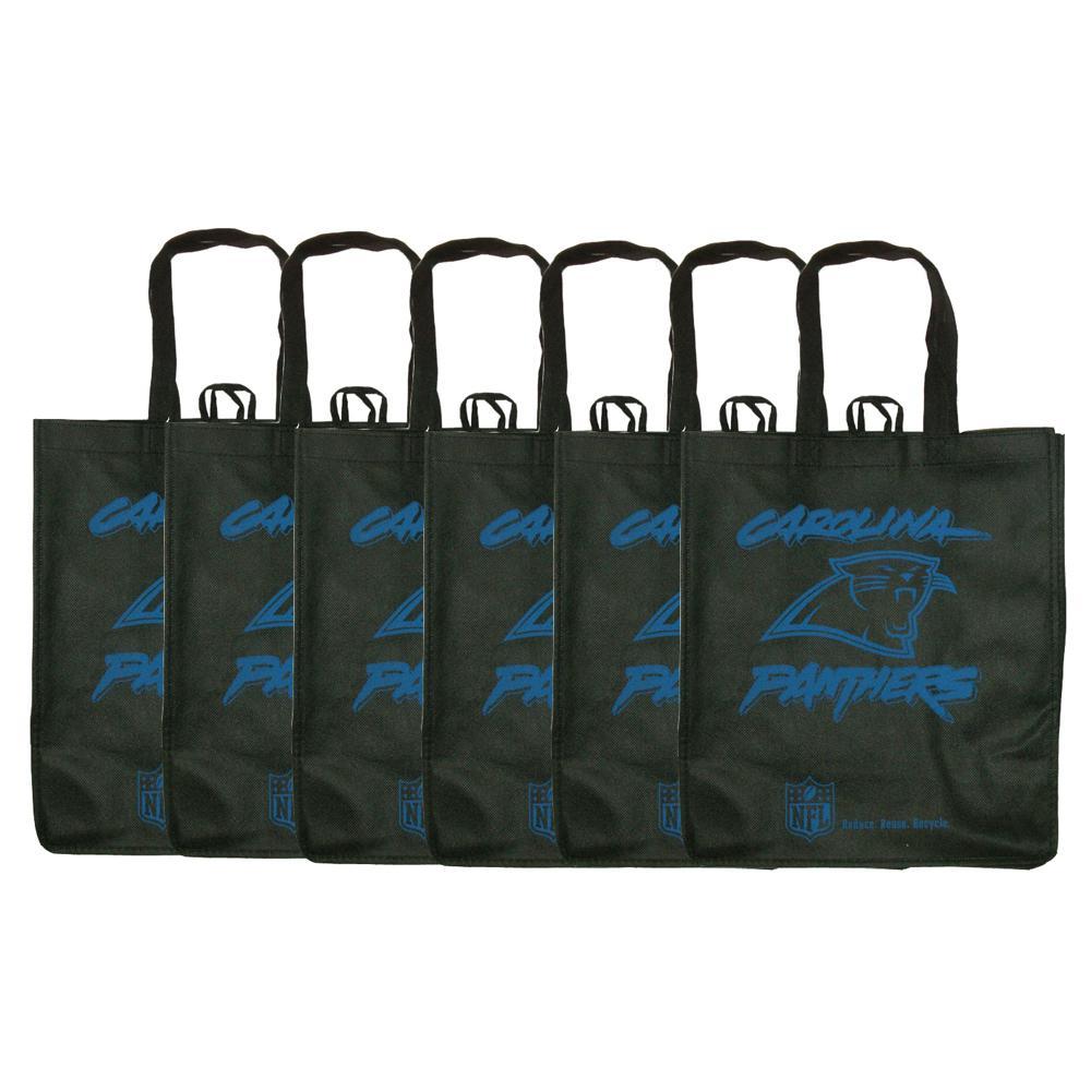 Carolina Panthers Reusable Bags (Pack of 6)