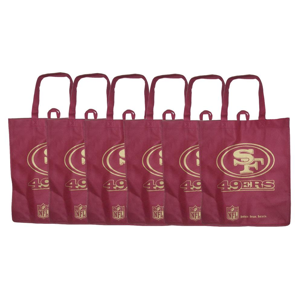 San Francisco 49ers Reusable Bags (Pack of 6)  ™ Shopping