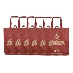 Houston Astros Reusable Bags (Pack of 6)